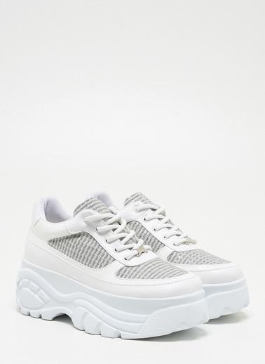 F By Fabrika Kadın Siyah Sneakers CASTOR Beyaz